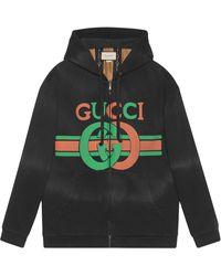Gucci インターロッキングg スウェットシャツ - ブラック