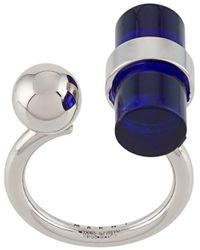 Marni Sphere Cylinder Ring - Blue