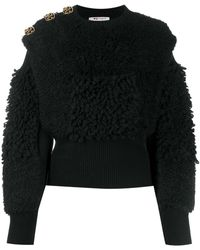 Ports 1961 Fully Fashioned Textured Knit Jumper - Black