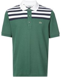Lacoste - Striped Top Polo Shirt - Lyst