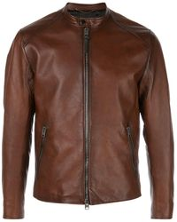 COACH Icon Racer Jacket - Brown