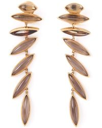 Antonio Bernardo 18kt Yellow Gold 'wing' Clip-on Earrings - Metallic