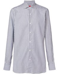 Isaia Striped Classic Shirt - Синий