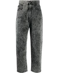 MSGM Jeans mit Acid-Wash-Effekt - Schwarz