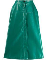 Marni Юбка Миди С Завышенной Талией - Зеленый
