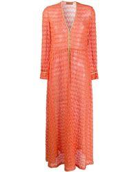 Missoni Pareo Met Textuur - Oranje