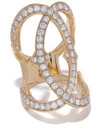 Loree Rodkin Anello in oro 18kt con pavé di diamanti - Metallizzato
