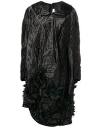 Comme des Garçons キルティング アシンメトリー ドレス - ブラック