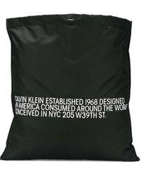 CALVIN KLEIN 205W39NYC ロゴ トートバッグ - ブラック