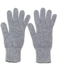 Pringle of Scotland Handschuhe mit gerippten Details - Grau