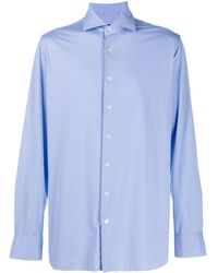 Lardini Рубашка С Геометричным Узором - Синий