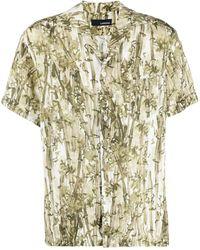 Lardini Гавайская Рубашка С Принтом - Зеленый