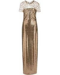 Oscar de la Renta スパンコール ドレス - マルチカラー