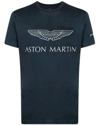 Hackett ロゴ Tシャツ - ブルー