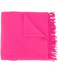 A.P.C. Virgin Wool Fringed Scarf - Pink
