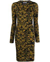 Versace Jeans Couture Vestito Barocco con stampa - Nero