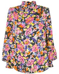 Rebecca Vallance Floral Long Sleeve Blouse - Pink