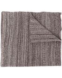 Daniel Andresen Two-tone Knit Scarf - Brown