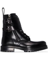 Balmain ダブルストラップ ブーツ - ブラック
