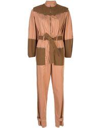 Sea コントラストパネル ジャンプスーツ - マルチカラー