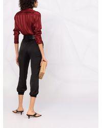 Blanca Vita Pantalon court à taille élastiquée - Noir