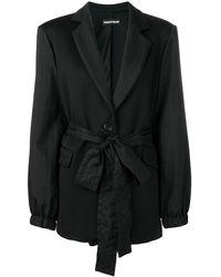 House of Holland Blazer ajustado con cintura lazada - Negro
