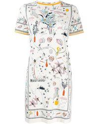 Tory Burch Платье-футболка С Принтом - Белый