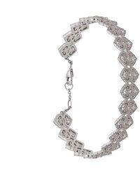 Colette Filigree ダイヤモンドブレスレット 18kホワイトゴールド - マルチカラー