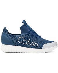 Avec En Ligne Paypal Calvin Klein Jeansbaskets en résille à logo Geniue En Ligne Stockiste JuA1PNgMSi