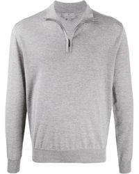 Canali ジップアップ セーター - グレー
