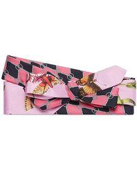 9fd4cde54ce4 Gucci - Rosa Garden Chains Print Silk Headband - Lyst