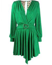 Philipp Plein Платье С Глубоким V-образным Вырезом - Зеленый