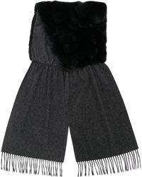 N.Peal Cashmere カシミア ストール - ブラック