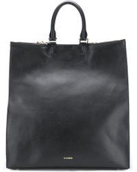Jil Sander Large Tote Bag - Black