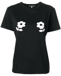 ALEXACHUNG Camiseta con cuello redondo - Negro