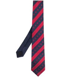 Versace Krawatte mit Medusa-Stickerei - Blau