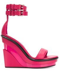 Alexander McQueen Босоножки Trompe L'oeil - Розовый