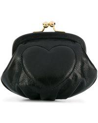 Boutique Moschino Heart Clutch - Black