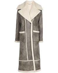 Jonathan Simkhai Briar Shearling Coat - Gray