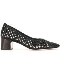 Loeffler Randall Imogene Woven Lattice Court Shoes - Black