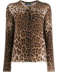 Dolce & Gabbana Кардиган С Леопардовым Принтом - Коричневый