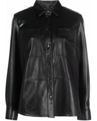 Calvin Klein アニマルフリーレザー シャツ - ブラック