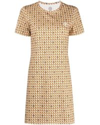 Tory Burch Платье-трапеция С Логотипом - Оранжевый