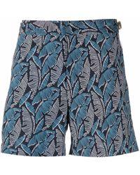 Orlebar Brown Setter Floral-print Shorts - Blue