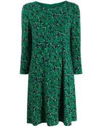 Lauren by Ralph Lauren Floral-print Flared Dress - Green