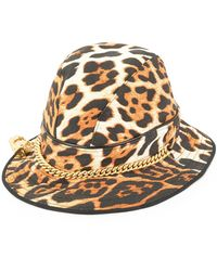 Dior Pre-owned Leopard Pattern Hat - Brown
