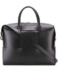 Bottega Veneta Handtasche mit Intrecciato-Muster - Schwarz