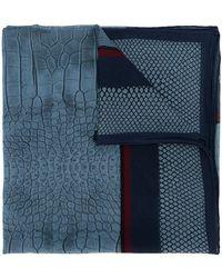 Roberto Cavalli プリントスカーフ - ブルー