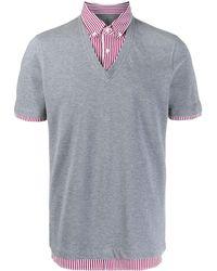 Brunello Cucinelli - Рубашка-поло В Двух Тонах - Lyst