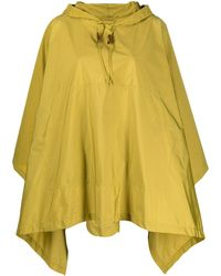 Mackintosh Alness Hooden Draped Cape - Yellow